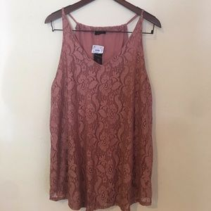 First love lace v neck tank from ROSS